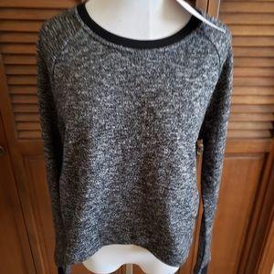 NWT Fabletics BLK/WHT sweatshirt SZ L